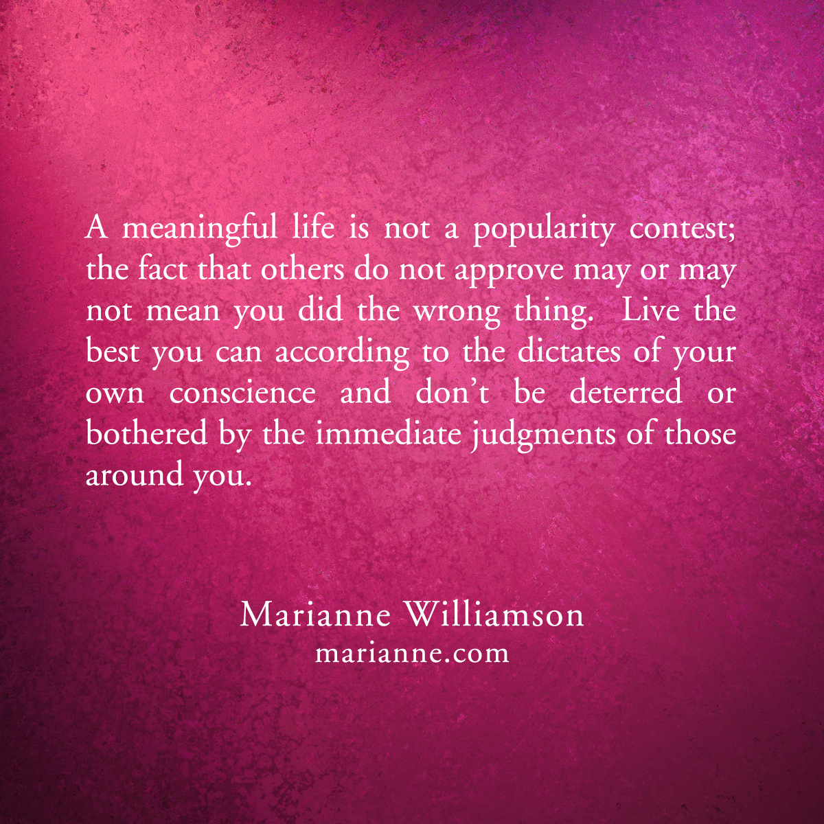 Welcome Marianne Williamson